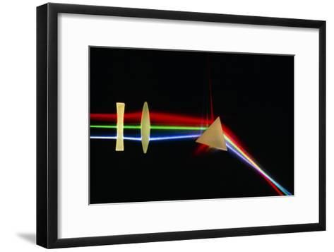 Refraction of Light by Lenses & a Prism-David Parker-Framed Art Print