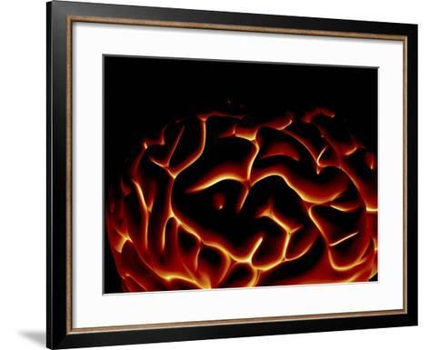Human Brain, Artwork-PASIEKA-Framed Art Print