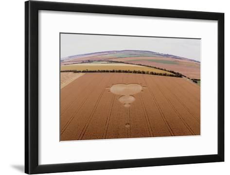 Crop Formation In Form of Mandelbrot Set-David Parker-Framed Art Print