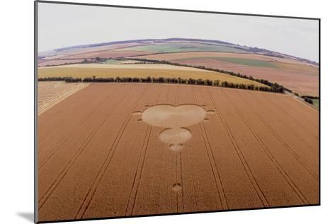 Crop Formation In Form of Mandelbrot Set-David Parker-Mounted Photographic Print