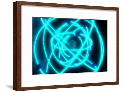 Atomic Structure-PASIEKA-Framed Art Print