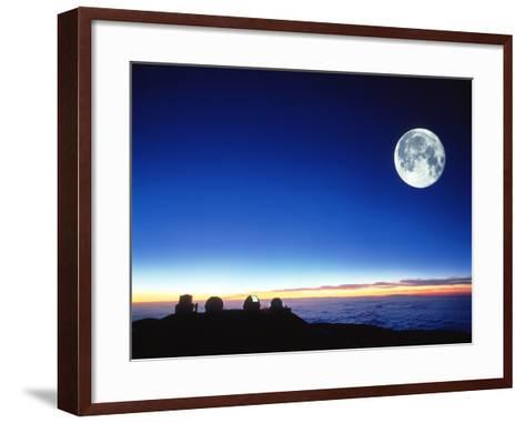 Observatories At Mauna Kea, Hawaii-David Nunuk-Framed Art Print