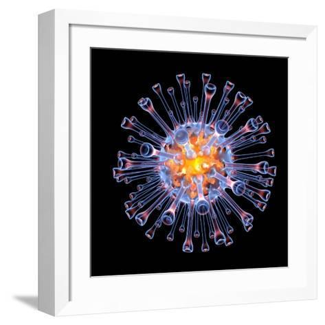 Swine Flu Virus Particle, Artwork-PASIEKA-Framed Art Print