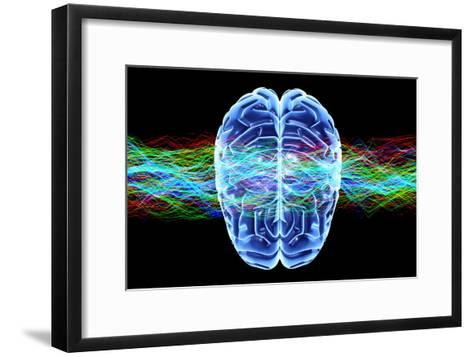 Human Brain, Conceptual Artwork-PASIEKA-Framed Art Print