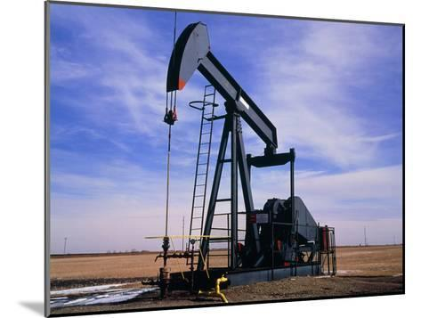 A Jack Pump Used for Oil Extraction-David Parker-Mounted Photographic Print