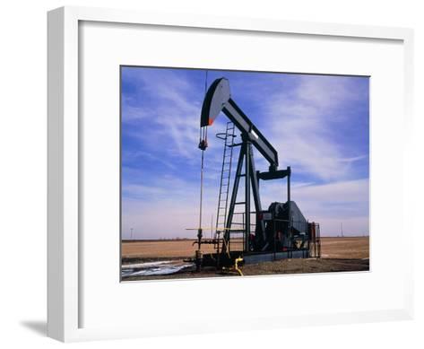 A Jack Pump Used for Oil Extraction-David Parker-Framed Art Print