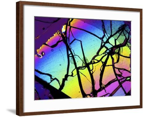 Meteor Jepara, Thin Section, Micrograph-PASIEKA-Framed Art Print