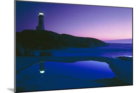 Dusk View of Lighthouse, Nova Scotia-David Nunuk-Mounted Photographic Print