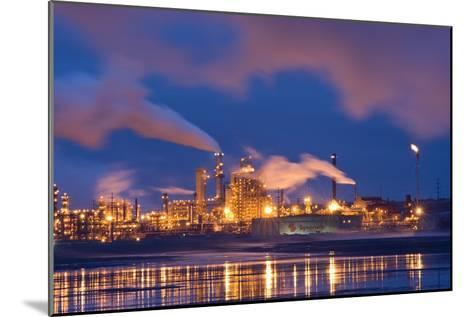 Oil Refinery At Night-David Nunuk-Mounted Photographic Print