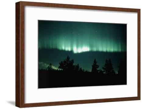 View of An Aurora Borealis Display-Pekka Parviainen-Framed Art Print