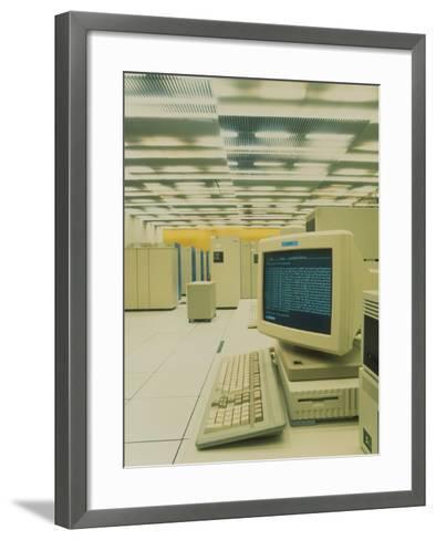 World Wide Web Main Server At CERN, Geneva-David Parker-Framed Art Print