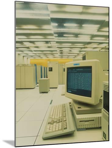 World Wide Web Main Server At CERN, Geneva-David Parker-Mounted Photographic Print