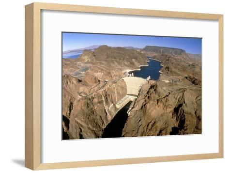 Hoover Hydroelectric Dam, Colorado River, USA-David Parker-Framed Art Print