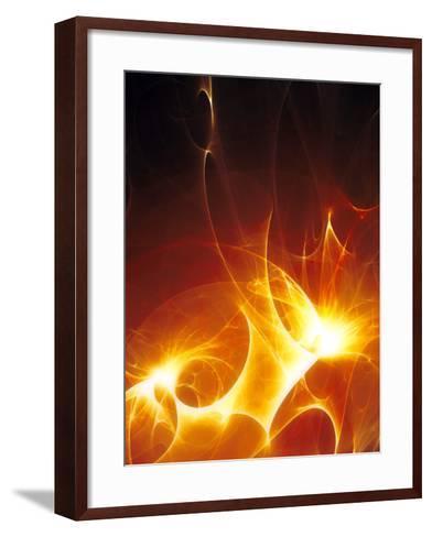 Flames-PASIEKA-Framed Art Print