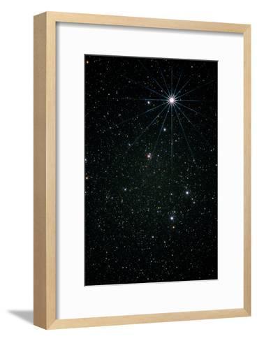 Optical Image of the Constellation of Lyra-Pekka Parviainen-Framed Art Print