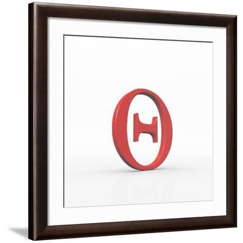 Greek Letter Theta, Upper Case-David Parker-Framed Art Print