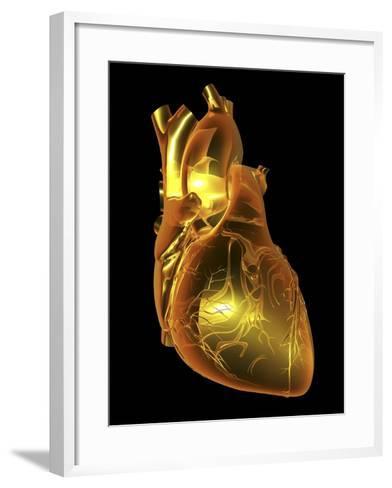 Heart with Coronary Vessels-PASIEKA-Framed Art Print
