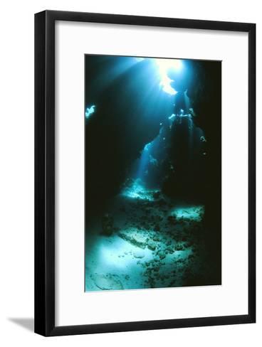 Underwater Cave-Alexis Rosenfeld-Framed Art Print