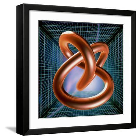 Art of Mathematical Knotted Torus-PASIEKA-Framed Art Print