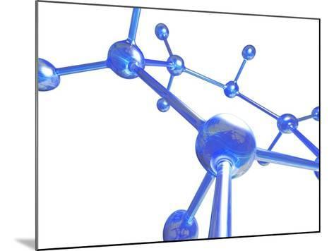 Molecular Structure, Computer Artwork-PASIEKA-Mounted Photographic Print