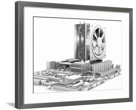 Computer Motherboard, Artwork-PASIEKA-Framed Art Print