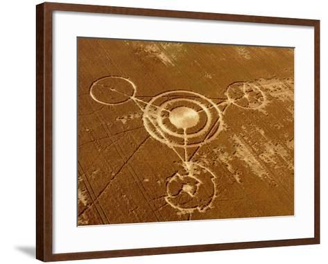Crop Formation, Barbury Castle, Wiltshire-David Parker-Framed Art Print