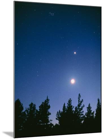 Earth View of the Planet Venus with the Moon-Pekka Parviainen-Mounted Photographic Print