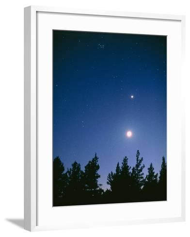 Earth View of the Planet Venus with the Moon-Pekka Parviainen-Framed Art Print