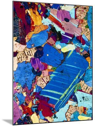 Polarised LM of a Thin Section of Gabbro Rock-PASIEKA-Mounted Photographic Print