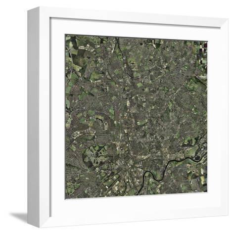Nottingham, UK, Aerial Image-Getmapping Plc-Framed Art Print