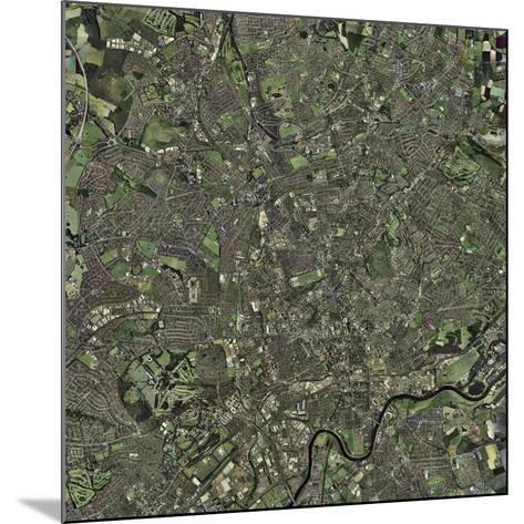 Nottingham, UK, Aerial Image-Getmapping Plc-Mounted Photographic Print