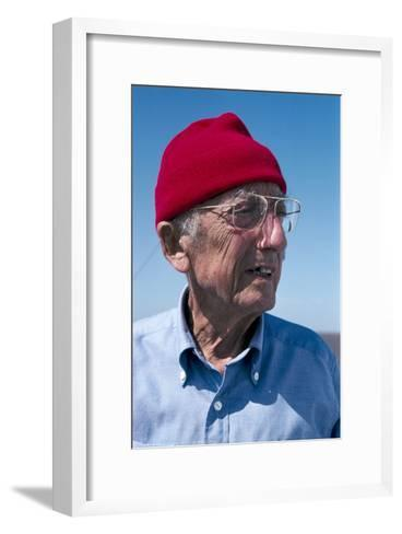 Jacques-Yves Cousteau, French Diver-Alexis Rosenfeld-Framed Art Print
