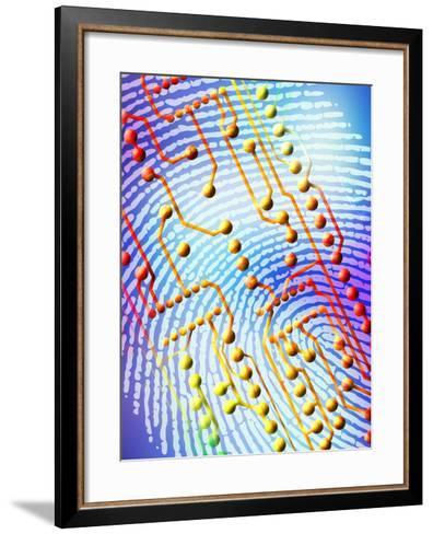 Biometric Fingerprint Scan-PASIEKA-Framed Art Print