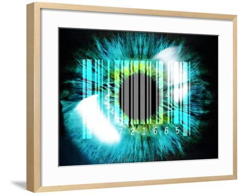 Biometric Eye Scan-PASIEKA-Framed Art Print