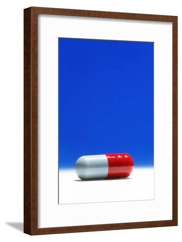 Capsule of Broad-spectrum Antibiotic Drug-David Parker-Framed Art Print