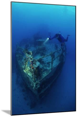 Diver on a Wreck-Alexis Rosenfeld-Mounted Photographic Print