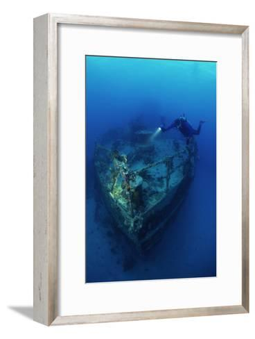 Diver on a Wreck-Alexis Rosenfeld-Framed Art Print
