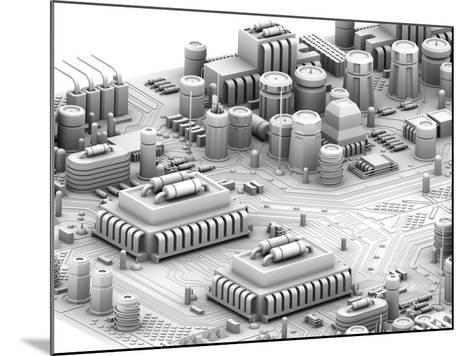 Circuit Board, Artwork-PASIEKA-Mounted Photographic Print