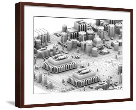 Circuit Board, Artwork-PASIEKA-Framed Art Print