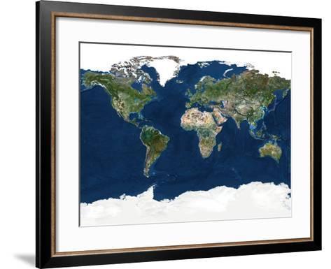 Whole Earth, Satellite Image-PLANETOBSERVER-Framed Art Print