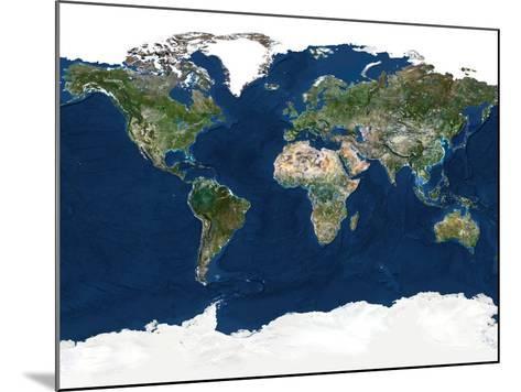 Whole Earth, Satellite Image-PLANETOBSERVER-Mounted Photographic Print