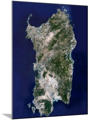 Sardinia, Satellite Image-PLANETOBSERVER-Mounted Photographic Print