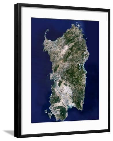 Sardinia, Satellite Image-PLANETOBSERVER-Framed Art Print