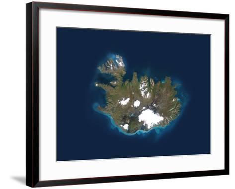 Iceland, Satellite Image-PLANETOBSERVER-Framed Art Print