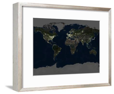 Whole Earth At Night, Satellite Image-PLANETOBSERVER-Framed Art Print