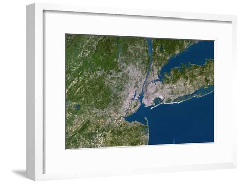 New York City-PLANETOBSERVER-Framed Art Print