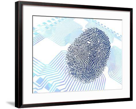 Biometric Fingerprint Scan, Artwork-PASIEKA-Framed Art Print