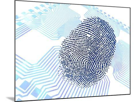 Biometric Fingerprint Scan, Artwork-PASIEKA-Mounted Photographic Print