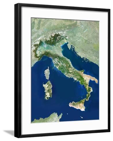 Italy, Satellite Image-PLANETOBSERVER-Framed Art Print