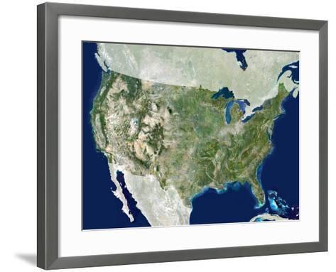 USA, Satellite Image-PLANETOBSERVER-Framed Art Print
